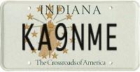 Indiana Amateur Radio License Plate KA9NME